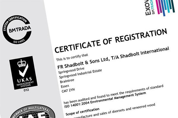 Shadbolt_Exova_BM_Trada_ISO_14001_certificate