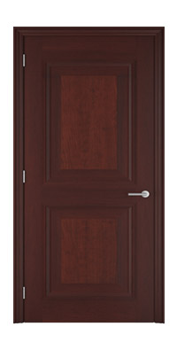 Shadbolt_Brighstone_veneered_panelled_door_crown_cut_American_cherry_stained