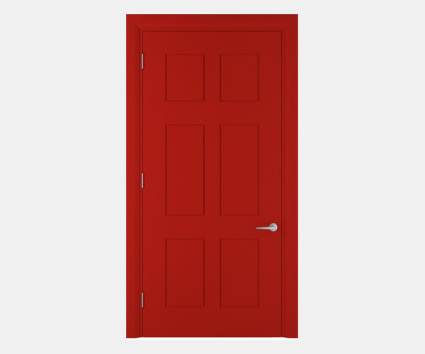 Shadbolt_Worth_lacquered_panelled_doors_Traffic_Red_RAL_3020