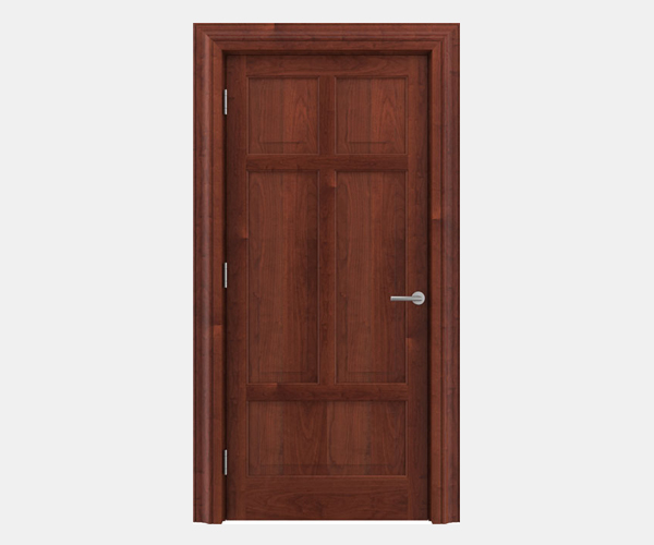 Shadbolt Timeless Type13 hardwood panelled door in American Cherry veneer