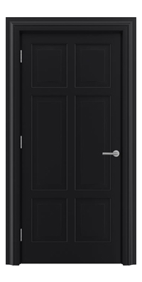 Shadbolt_Type10_Timeless_Hardwood_Door_in_RAL9005_paint_finish
