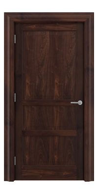 Shadbolt Type11 Timeless Hardwood Door in American black walnut veneer