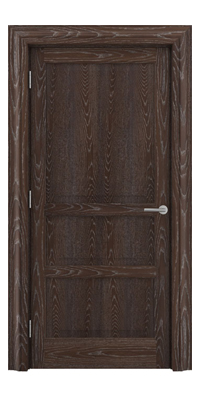 Shadbolt Type11 Timeless Hardwood Door in European Oak veneer with dark stain and lime finish
