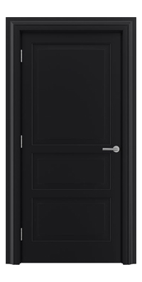Shadbolt Type11 Timeless Hardwood Door in RAL 9005 paint finish