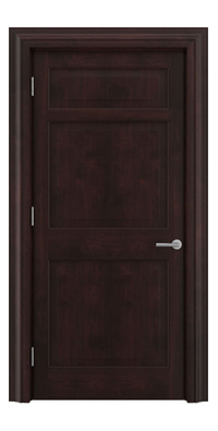 Shadbolt Timeless Type12 hardwood panelled door in American black walnut veneer with dark stain finish
