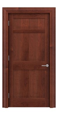 Shadbolt Timeless Type12 hardwood panelled door in American Cherry veneer