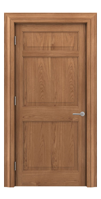 Shadbolt Timeless Type12 hardwood panelled door in European Oak veneer
