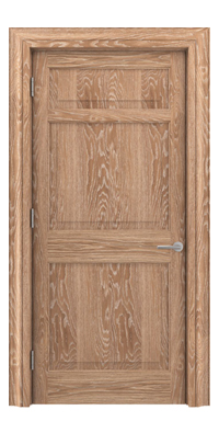Shadbolt Timeless Type12 hardwood panelled door in European Oak veneer with lime finish