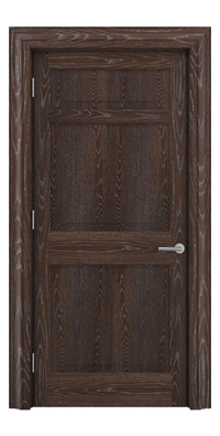 Shadbolt Timeless Type12 hardwood panelled door in European Oak veneer with dark stain and lime finish