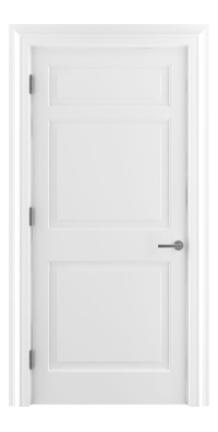 Shadbolt Timeless Type12 hardwood panelled door with RAL 9010 paint finish