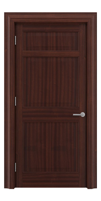 Shadbolt Timeless Type12 hardwood panelled door in Sapele Mahogany veneer