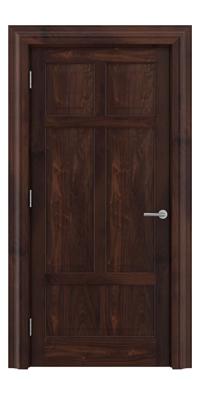 Shadbolt Timeless Type13 hardwood panelled door in American black walnut veneer