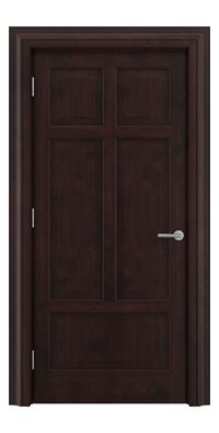 Shadbolt Timeless Type13 hardwood panelled door in American black walnut veneer with dark stain finish