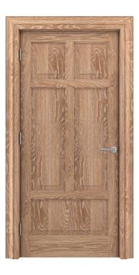 Shadbolt Timeless Type13 hardwood panelled door in European Oak veneer with lime finish