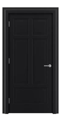 Shadbolt Timeless Type13 hardwood panelled door in RAL 9005 paint finish