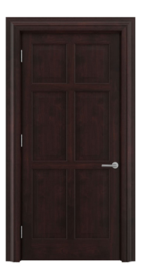 Shadbolt Timeless Type14 hardwood panelled door in American black walnut veneer with dark stain finish