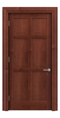 Shadbolt Timeless Type14 hardwood panelled door in American Cherry veneer