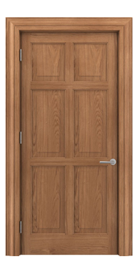 Shadbolt Timeless Type14 hardwood panelled door in European Oak veneer