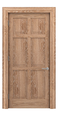 Shadbolt Timeless Type14 hardwood panelled door in European Oak veneer in lime finish