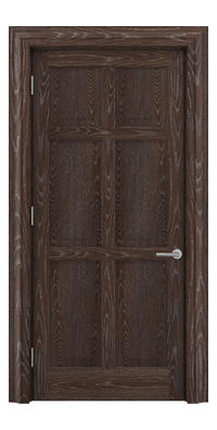 Shadbolt Timeless Type14 hardwood panelled door in European Oak veneer in dark stain and lime finish