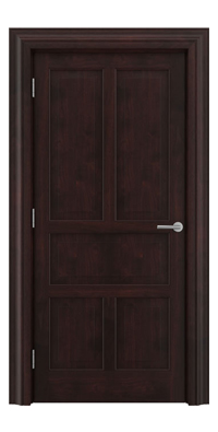 Shadbolt Timeless Type15 hardwood panelled door in American black walnut veneer in dark stain finish