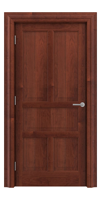 Shadbolt Timeless Type15 hardwood panelled door in American Cherry veneer