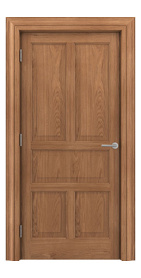 Shadbolt Timeless Type15 hardwood panelled door in European Oak veneer
