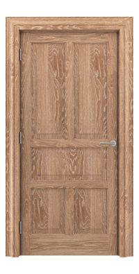 Shadbolt Timeless Type15 hardwood panelled door in European Oak veneer with lime finish