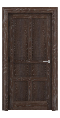 Shadbolt Timeless Type15 hardwood panelled door in European Oak veneer with dark stain and lime finish