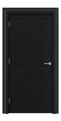 Shadbolt Timeless Type15 hardwood panelled door in RAL 9005 paint finish
