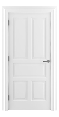 Shadbolt Timeless Type15 hardwood panelled door in RAL 9010 paint finish