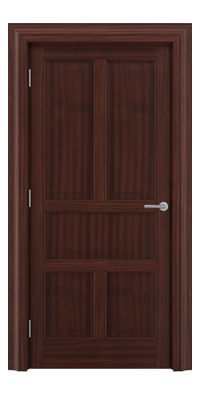 Shadbolt Timeless Type15 hardwood panelled door in Sapele Mahogany veneer