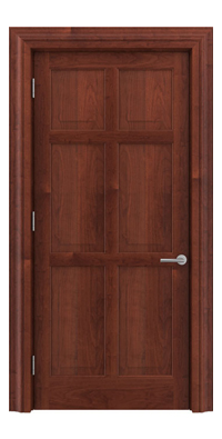 Shadbolt Timeless Type16 hardwood panelled door in American cherry veneer