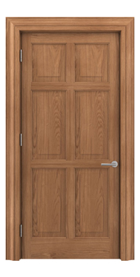 Shadbolt Timeless Type16 hardwood panelled door in European oak veneer