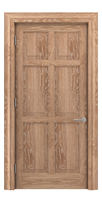 Shadbolt Timeless Type16 hardwood panelled door in European oak veneer with lime finish