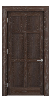 Shadbolt Timeless Type16 hardwood panelled door in European oak veneer with dark stain and lime finish