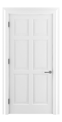 Shadbolt Timeless Type16 hardwood panelled door in RAL 9005 paint finish