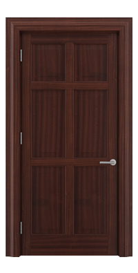 Shadbolt Timeless Type16 hardwood panelled door in Sapele Mahogany veneer