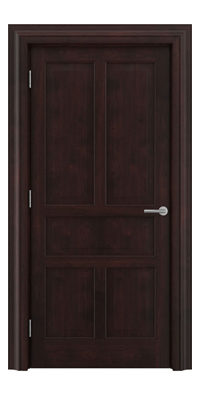 Shadbolt Timeless Type17 hardwood panelled door in American black walnut veneer with dark stain finish