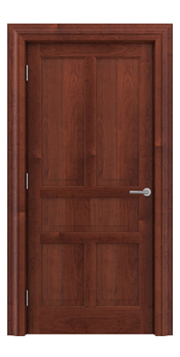 Shadbolt Timeless Type17 hardwood panelled door in American Cherry veneer