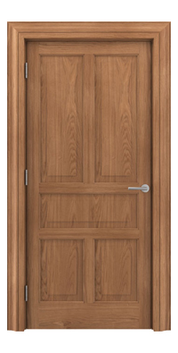 Shadbolt Timeless Type17 hardwood panelled door in European oak veneer