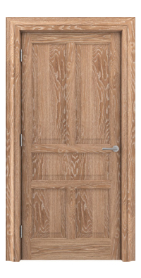 Shadbolt Timeless Type17 hardwood panelled door in European oak veneer in lime finish