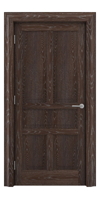Shadbolt Timeless Type17 hardwood panelled door in European oak veneer in dark stain and lime finish