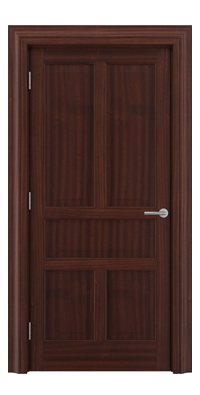 Shadbolt Timeless Type17 hardwood panelled door in Sapele Mahogany veneer