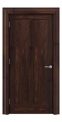 Shadbolt Timeless Type18 hardwood panelled door in American black walnut veneer