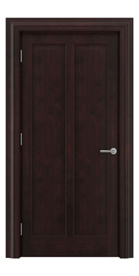 Shadbolt Timeless Type18 hardwood panelled door in American black walnut veneer with dark stain finish