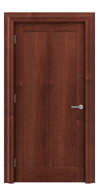 Shadbolt Timeless Type18 hardwood panelled door in American Cherry veneer