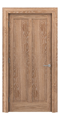 Shadbolt Timeless Type18 hardwood panelled door in European Oak veneer with lime finish