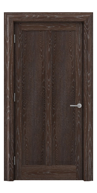 Shadbolt Timeless Type18 hardwood panelled door in European Oak veneer with dark stain and lime finish
