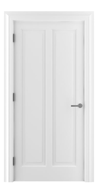 Shadbolt Timeless Type18 hardwood panelled door with RAL 9010 paint finish